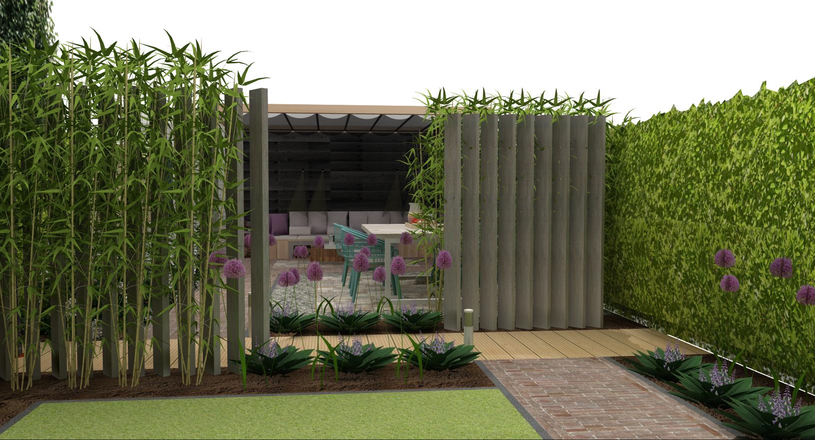 Magnifiek Tuinontwerp 3d inspiratie standaard tuin voorbeelden #WN89