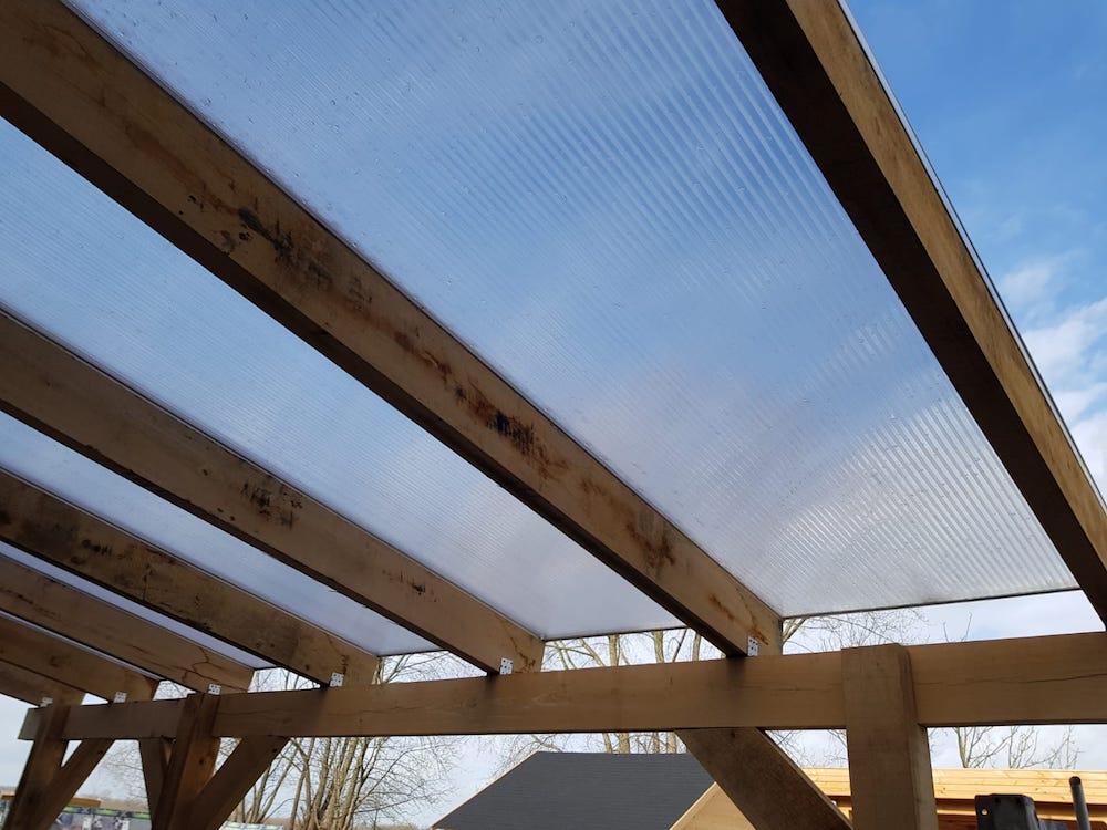 Voorkeur Polycarbonaat platen monteren Zelf plaatsen polycarbonaat dak ZZ53