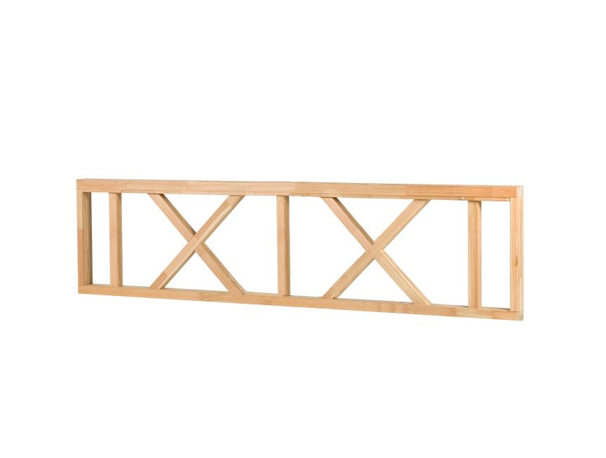 Iets Nieuws Verandahek hout 223 x 70 cm Veranda Balustrade lariks douglas &FA45