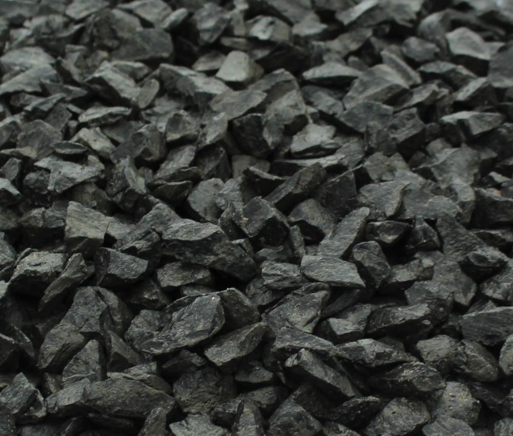 Uitzonderlijk Basalt Split antraciet Zwart 16 - 25 mm 25kg zakgoed XW23