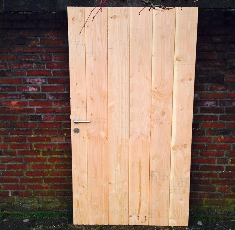 Populair Zelf een houten Schuttingdeur Maken - Poortdeur timmeren stalen FB18