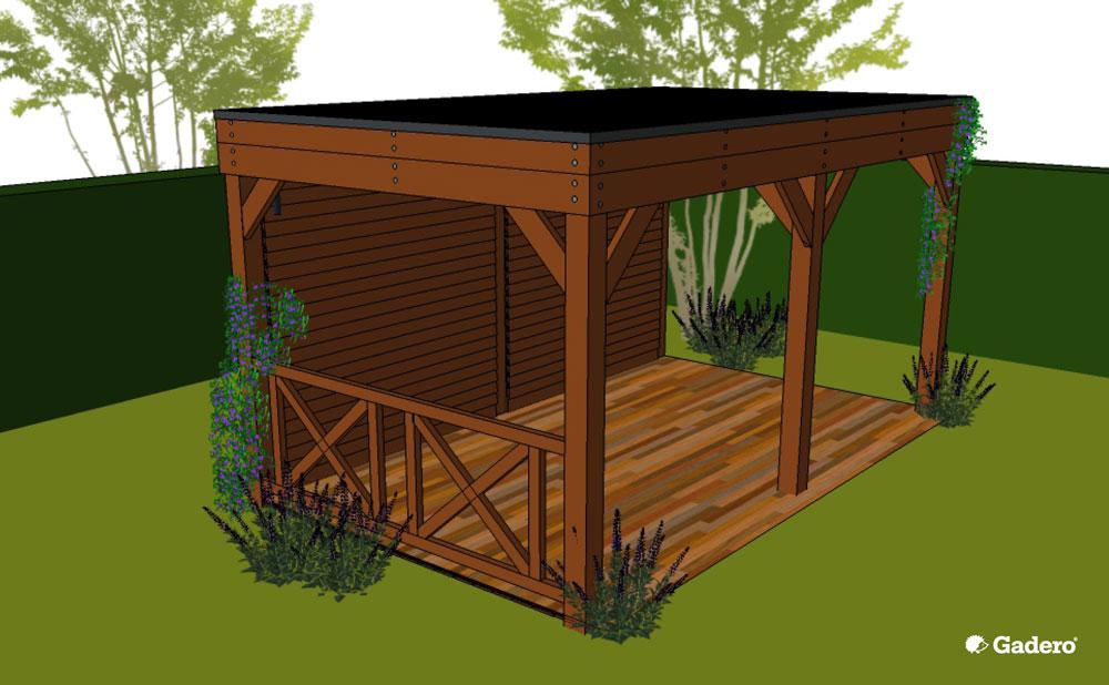 Beroemd Houten Prieel maken Tuinprieel bouwen hout lariks @QK86