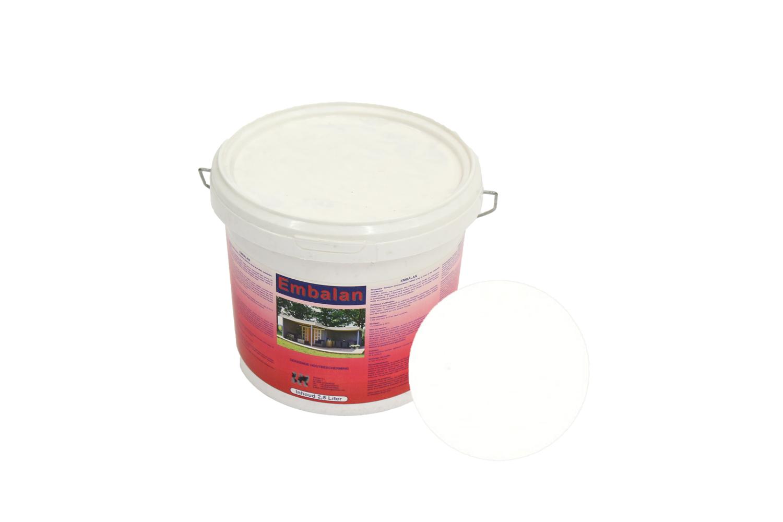 Voorkeur Embalan dekkende beits voor blokhut - 2,5 liter beits wit RV54